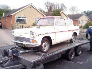 1967 Ford Anglia barn find